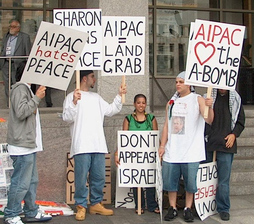 AIPAC Protest DC 2005 A