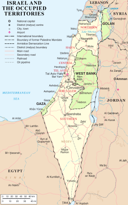 Israel And Occupied Territories Map